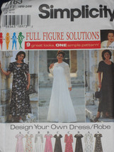 Women's Design your own Dress size 18w-24w Simplicity 7163 Sewing Pattern * - $9.40