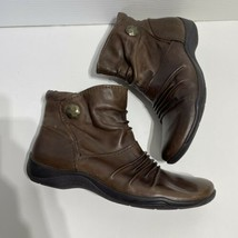 Clarks Size 11 Brown Leather Ankle Boots - $44.99