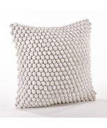 Fennco Styles Handmade Crochet Pompom Throw Pillow - 4 Colors (White) - $49.49