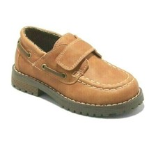 Cat & Jack Boys Toddler Brown Jacy Hook & Loop closure Loafer Shoes NWT