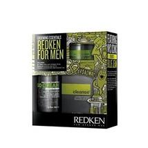 Redken For Men Daily Care Shampoo 10oz - Manever Wax 3.4oz -Cleanse Acid Balance - $69.29