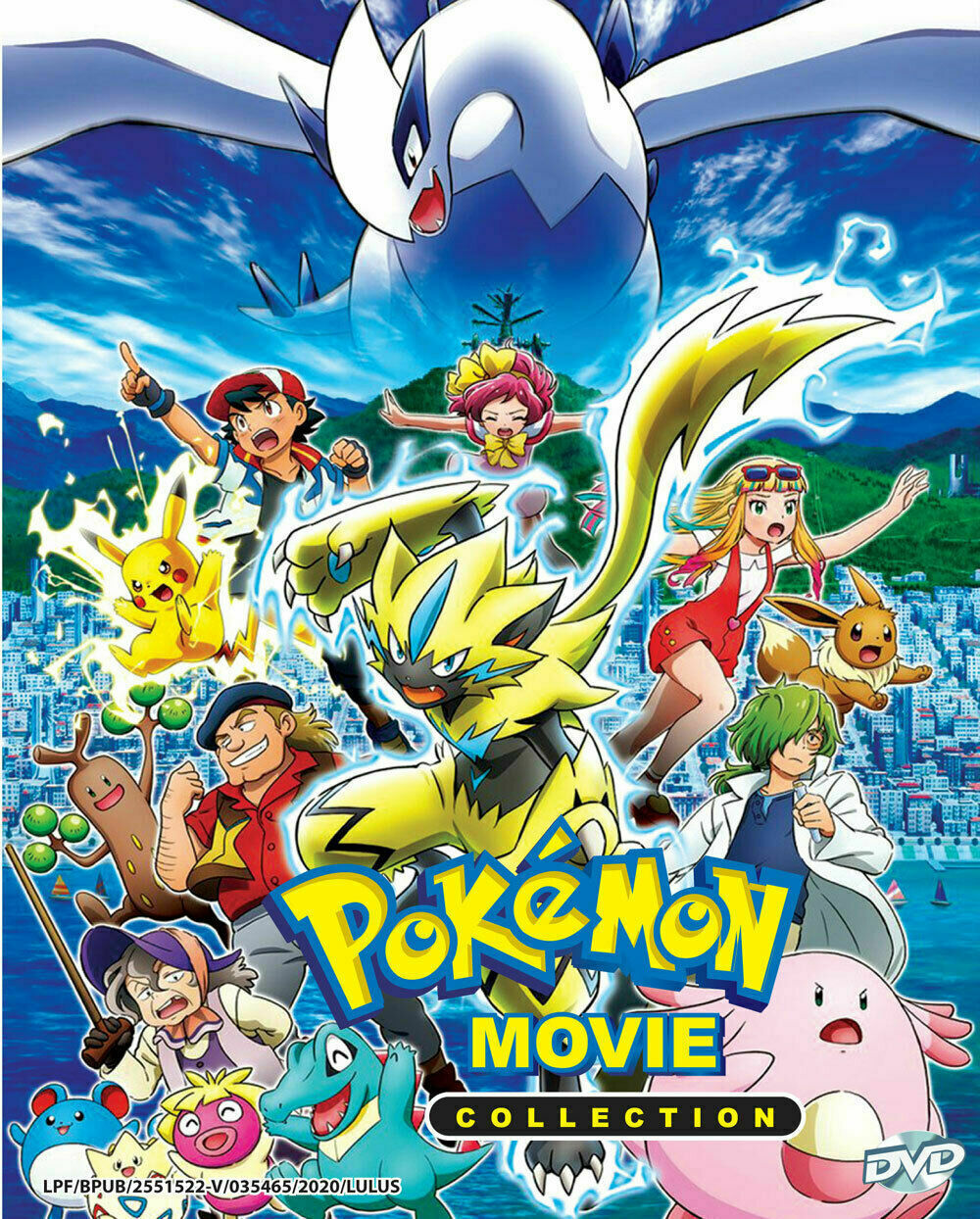Pokemon The Movie Collection (25 Movies) DVD with English Subtitle Ship From USA