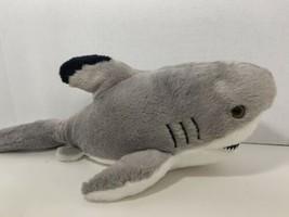Aurora Destination Nation great white shark plush stuffed toy gray 2015 - $9.89