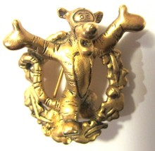 Hard to Find Authentic DISNEY Gold Tone Tigger Pin Three Dimensional - $9.99
