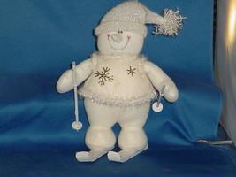 CHRISTMAS DECORATION Stuffed Skiing Snowmen - $9.99