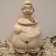 Vintage American Bisque Lucky Horseshoe Clown Cookie Jar 1940's - $34.82