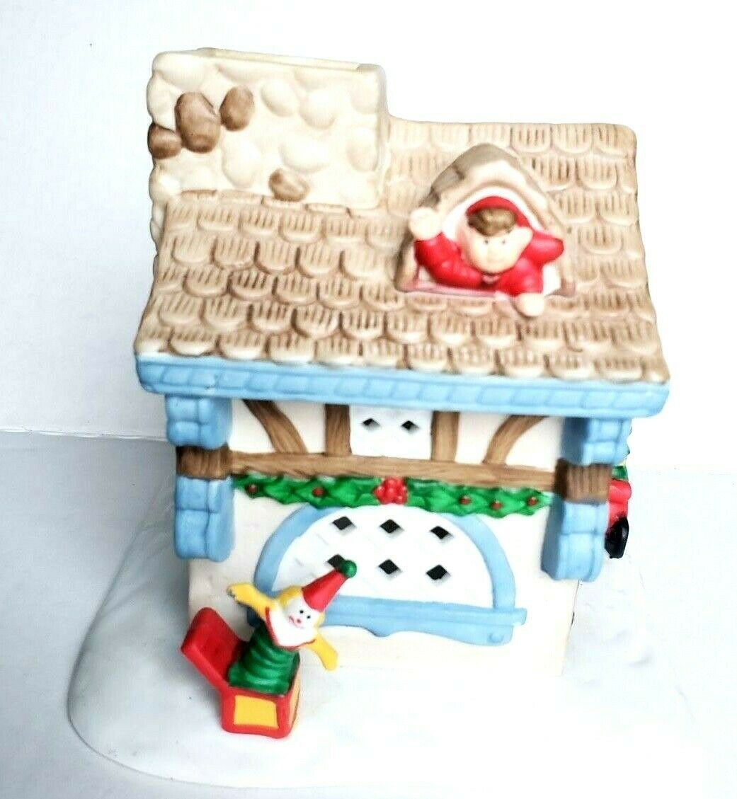Santa's Workshop Tealight Candle House Holiday Village Christmas PartyLite P0269