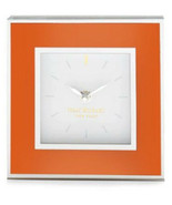 issac mizrahi modern clock orange with mirror accenting - $26.99