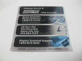 Nintendo Power Customer Service Repair Window Cling Game Counselor New U... - $12.86