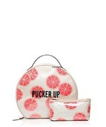 Kate Spade Pucker Up cosmetic bag set flights of fancy grapefruit patsie... - $106.83 CAD