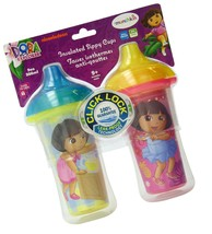 Munchkin Dora the Explorer Click Lock Insulated Sippy Cup, 9 Ounce, 2-Count - $13.90
