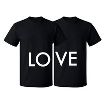 Couple Matching T-shirt Love Tshirt-LO VE Valentines Day Couple Shirts-V-Day - $15.99+