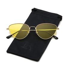 356b99d9b5d LKEYE Cat Eye Mirrored Sunglasses Metal Frame Flat Lens LK1742 Gold Fram...  -