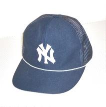 Vintage MLB New York Yankees Mesh Snap Back Trucker Hat Made in Korea - $82.32