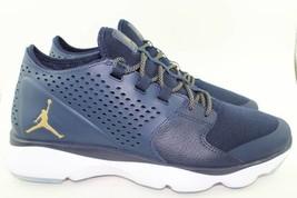wholesale dealer 73590 98ca6 Jordan Flow Men Size 8.0 New Navy Gold Comfort Rare Stylish Authentic -   98.00