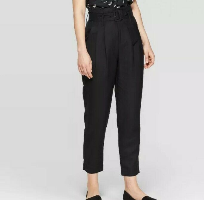 Primary image for a new day™ Women's Regular-Fit High-Rise Straight-Leg Ankle-Length Black Pants 4