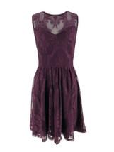 Express Women's Purple Lace Zip Down Back Sleeveless A-Line Dress Size S... - $19.80