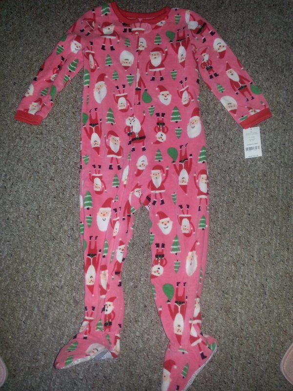 ec1b62f9bccd NWT Pink Santa Fleece Blanket Sleeper Girls and 32 similar items
