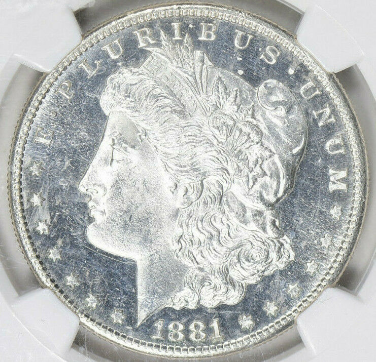 1881-S Morgan Silver Dollar - NGC MS-64 Star - Mint State 64 Star - Nice Coin image 3