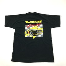 Vintage 90s MONROE Racing T-shirt XL 1X Adult Black Short Sleeve Shop Pit Stop T - $23.74