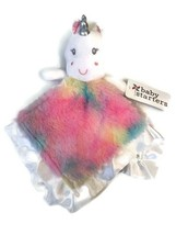 Baby Starters Rainbow Unicorn Minky Silky Security Blanket Lovey Nunu NE... - $24.74