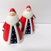 Salt and Pepper Shakers Christmas Holiday Decor Santa Claus St Nick Dinn... - $12.86