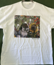 Unisex 2X Cat Art T-Shirt - Lily and the Sunflower - $20.00