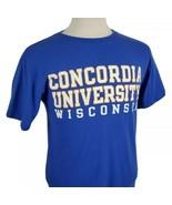 Champion Concordia University Wisconsin T-Shirt Medium S/S Crew Falcons ... - $14.99