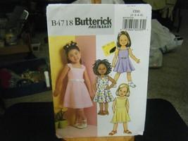 Butterick B4718 Girl's Summer Dress Pattern - Size 2/3/4/5 - $7.91