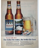 Hamm's Beer Bottle Photo The Better The Water 1967 13 1/2 X 10 1/2 - $11.01