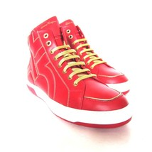 W-2105218 New Salvatore Ferragamo Nicky Red Leather Sneaker Shoes Size U... - $495.72 CAD