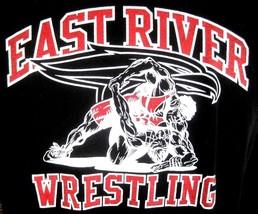 East River Wrestling T Shirt Long Sleeve Sz L Cotton Orlando Florida Hs Falcons - $12.73