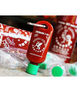 Sriracha 2 Go Keychain Refillable Bottle Empty Sriracha Hot Sauce 1.69 oz.  - £11.49 GBP