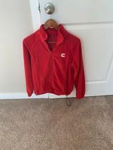 Cummins logo full zip women's fleece jacket, EUC, Size M, Red - $19.79