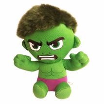 "Ty Marvel Incredible Hulk Plush Small Green/Purple 7"" Stuffed - $14.80"