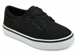 Cat & Jack Boys' Michael/Finn Black Canvas Casual Sneakers Brand New w Tags image 1