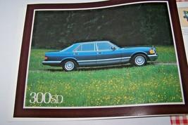 1981 mercedes 300sd 380sel owners sales brochure  new original w126 - $19.79