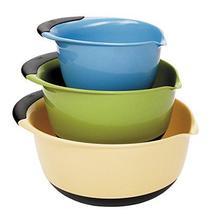 OXO Good Grips 3-Piece Mixing Bowl Set, Blue/Green/Yellow - $54.99
