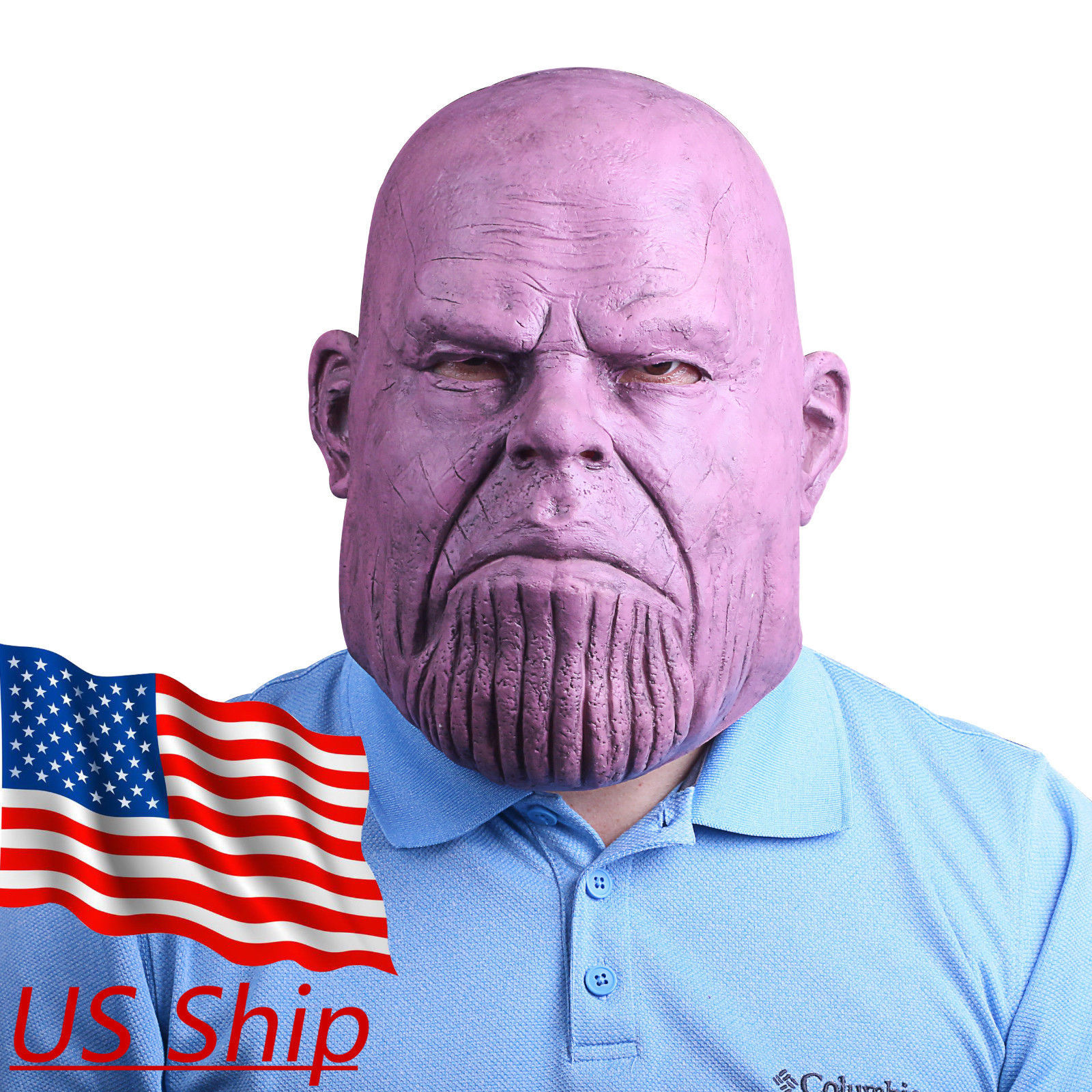 2018 Thanos Realistic Face Mask Avengers 3 Infinity War Replica Prop Mask - $33.04