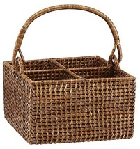 The French Chefs? Rattan 4-Bottle Caddy - $70.49