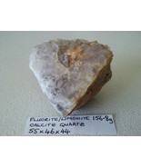 156.8g Natural Fluorite / LIMONITE CALCITE QUARTZ Stone Specimen - $7.83