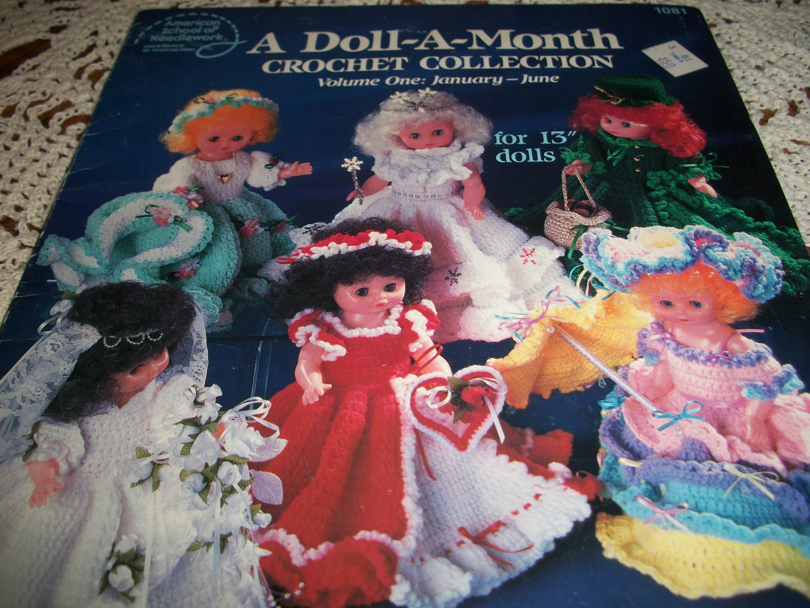 "Primary image for A Doll-A-Month Crochet Collection Volume One:January-June for 13"" Dolls"