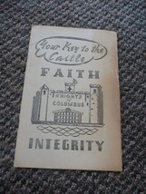 Old Vintage Your Key to the Castle Faith Integrity Knights of Columbus B... - $9.99