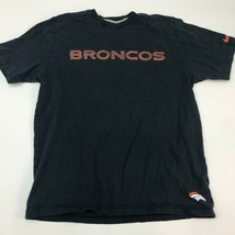 Nike T-Shirt Mens Large Denver Broncos NFL Black Short Sleeve Casual - $17.99