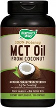 Nature's Way MCT Oil Softgels, 3 g of MCTs per serving, No Palm or Filler Oils - $63.56