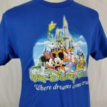 "Walt Disney World T-Shirt Medium ""Where Dreams Come True"" Mickey Minnie Goofy - $19.40"