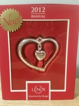 NEW Lenox Our First Christmas 2012 Silver Heart  Holiday Ornament film prop - $18.39