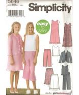 Girls Wardrobe Sewing Pattern Plus Sizes 8-1/2 to 16-1/2 Simplicity 564... - $4.99