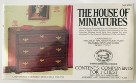 House of Miniatures 1:12 Chippendale Chest Circa 1750-1790 Kit #40011 Sealed - $29.02