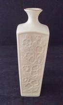 """Vintage Lenox USA Gold Label Square Boxy Floral Bud Vase Blossom 7.25"""" G... - $18.70"""